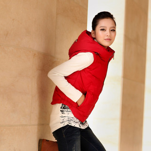 2011 winter new Korean version of casual temperament Slim thin short down jacket down vest vest waistcoat