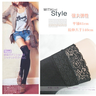 Japanese was thin lace stockings velvet stockings knee high socks female autumn