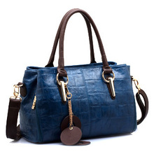 Wei emperor Paul 2015 new tide female baotou layer cowhide lady bags real leather aslant bag bag bag mail