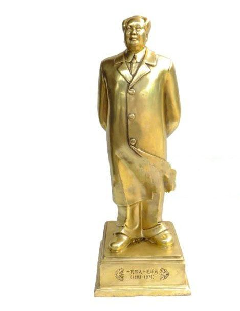 Bronze statue of Chairman Mao Zedong all over the body