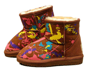 Upgrade board Aussie Sheepskin good wear off softly hairy child tendon soft bottom snow boots