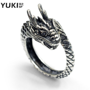 YUKI men''s 925 sterling silver ring jewelry retro fashion in Europe and America long index finger ring ring Club accessory hallux