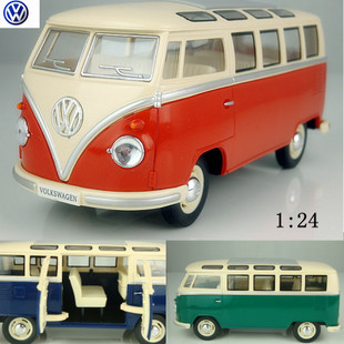 Wholesale Price 1 24 Volkswagen MPV car commercial vehicle side bus alloy car models of classic cars
