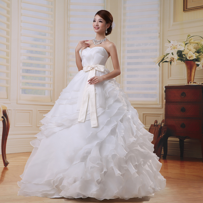 20,151 минус один плюс невесты элегантный новый простой Корейский VERAWANG с Корейской невесты свадебное платье