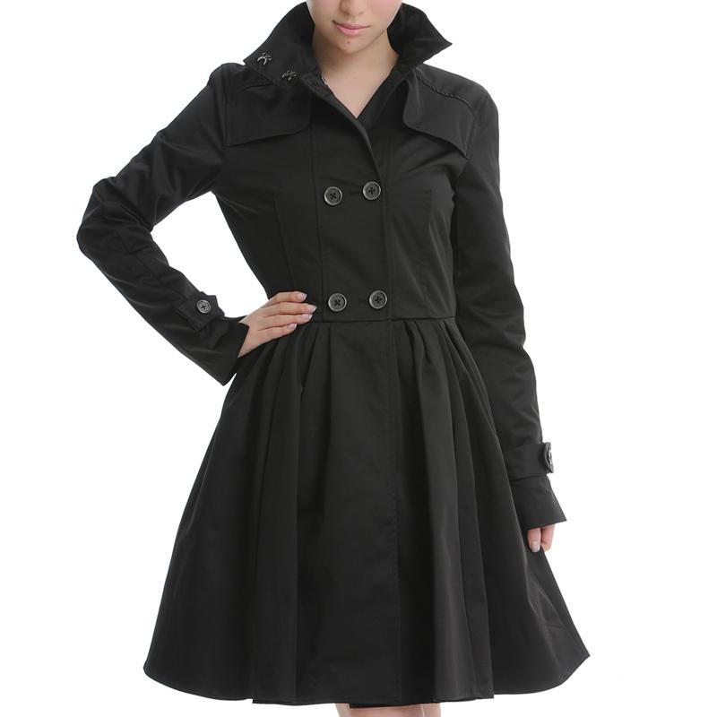 2012秋冬季新款女装韩版气质修身收腰长款大衣裙摆式大摆风衣外套
