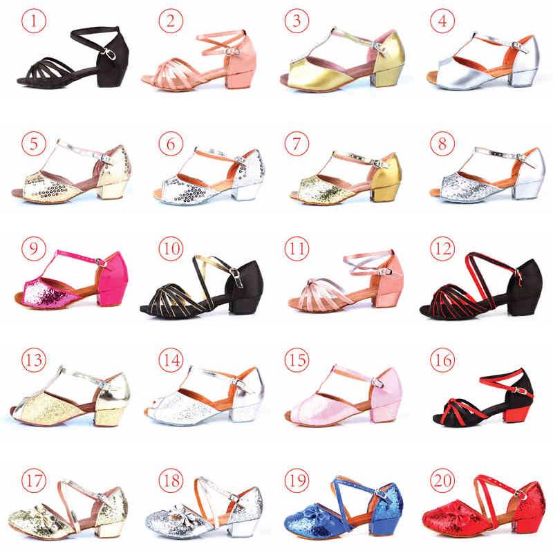 Дети обувь латинских танцев обувь девочек, мягкая Детская танцевальная обувь для бальных танцев в конце танца с обувь для бальных танцев