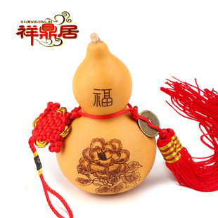 Cheung DingJu opening large natural gourd feng shui ornaments ornaments crafts home accessories