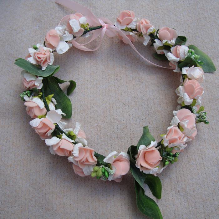Lilan цветок девушка цветок тиаре оголовье корейских детей, гирлянда девочек принцесса Показать волосы Свадебные аксессуары