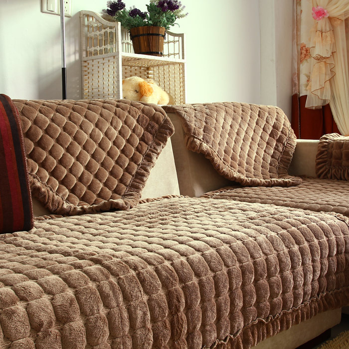 Корейская версия элитных супер мягким плюшевым диваном подушки подушки ткань не нескользкие мягкий диван обычай подушки