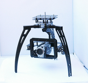 2 axis aerial PTZ rotation belt drive overall fiberglass tripod head bearing full compatibility