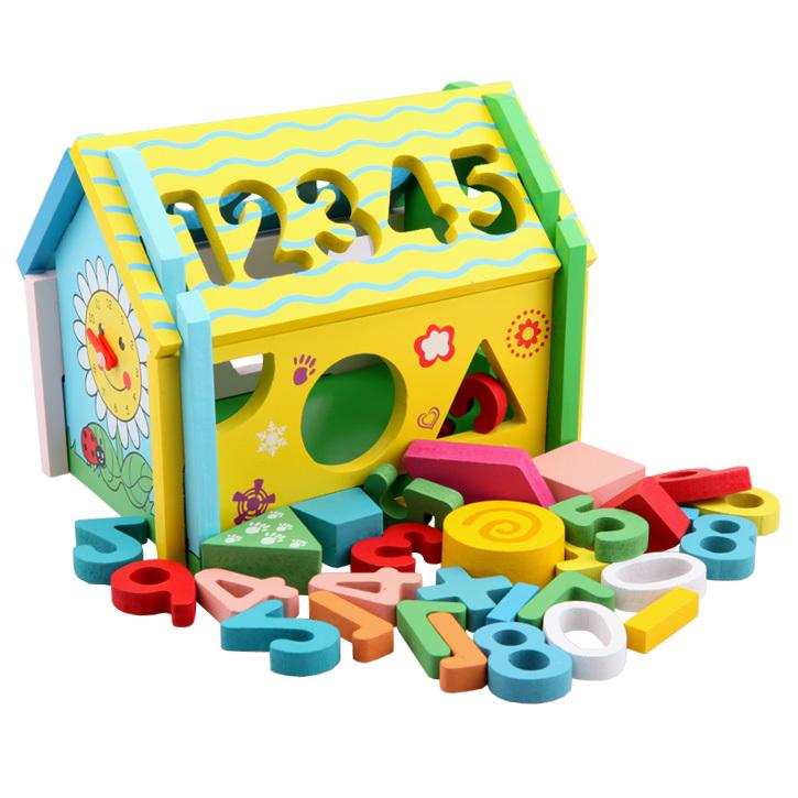 Мудрость цифровой дом оборудован с пористыми геометрических фигур более ранней разведки коллекции детей образовательные игрушки весело дом