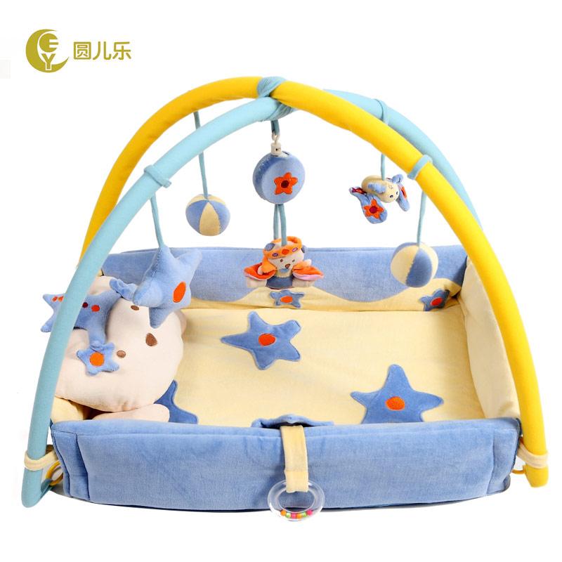 新生兒玩具滿月 音樂嬰兒遊戲毯健身架0~1歲玩具寶寶爬行墊