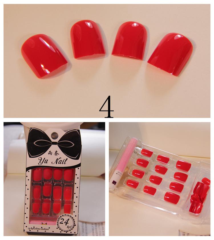 Пунктуальность сплошной цвет сплошной цвет квадратные головы ногти короткие патч послушная поддельные ногтей продукты