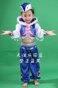 National Children s performance clothing girls dance clothes Tibetan Mongolian Mongolian costumes Mongolian dance costume children s hats