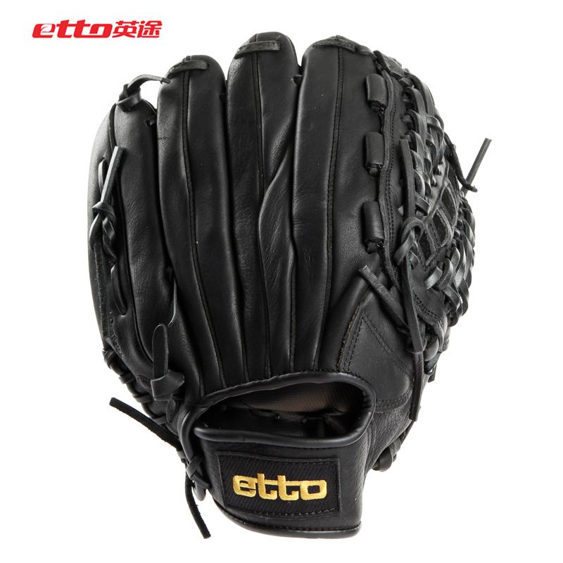 Отдавать бейсбол бейсбол перчатки воловья кожа etto английский способ кожаные бейсбол перчатки литье рука перчатки