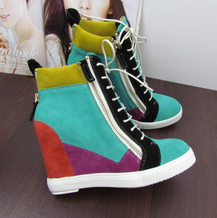 Europe and America to fight the new color band within the higher high shoes casual shoes to help footwear