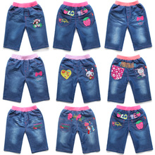 2015 summer wear the pants in the children's clothing han edition of the girls baby cowboy 7 minutes of pants dNAEEA9c 5 minutes of pants, shorts and thin model