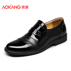 Aokang shoes authentic British style men's business dress shoes fashion foot leather men's shoes