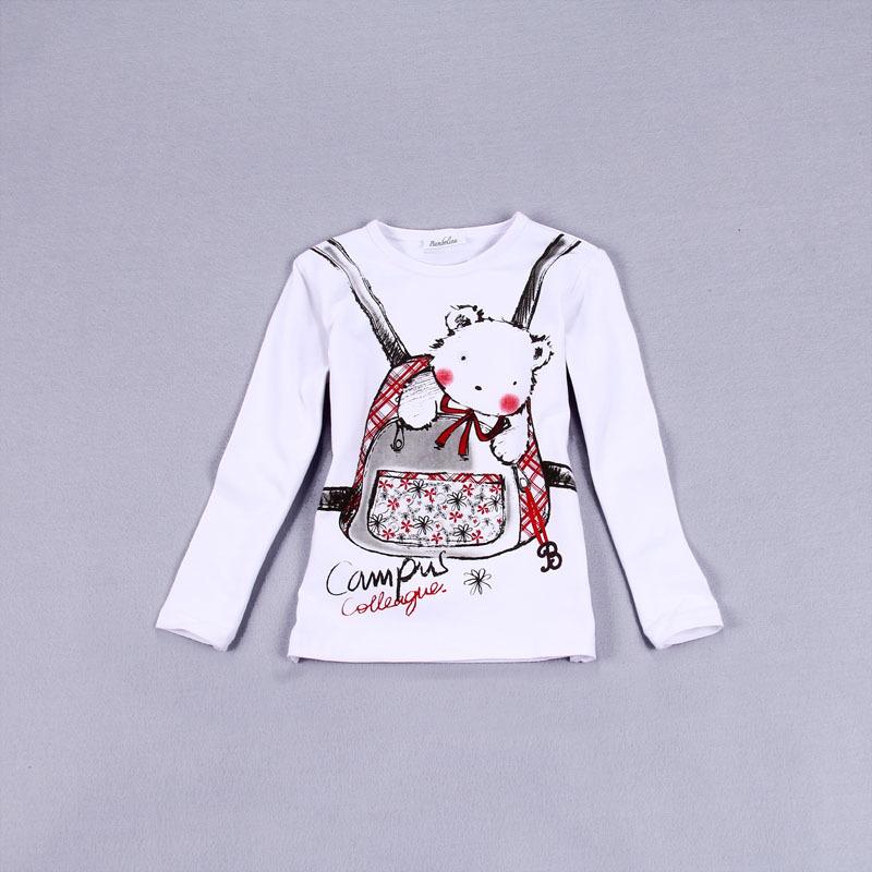 Весной и осенью внешней торговли первоначального экспорта Испании девушки школы мешок маленький медведь печатных футболки с длинным рукавом