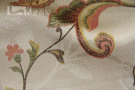 圣奇尼美式乡村窗帘美式窗帘客厅美式窗帘卧室提花窗帘定制H12091