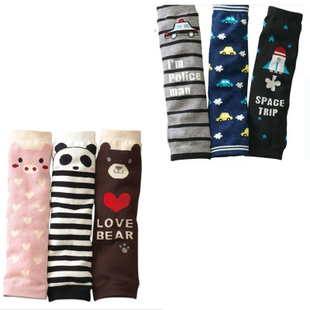 Panda car models cotton baby kneepad sets Children tights Wrist long sock baby socks elbow sleeve