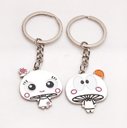 Smiling Korean mushroom head couple ornaments accessories jewelry meet hard house price 350384