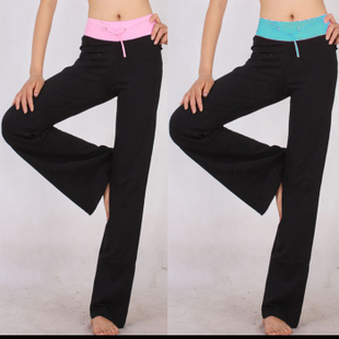 Cheap new spring and summer color waist yoga pants dance aerobics practice pants home pants sports pants wild