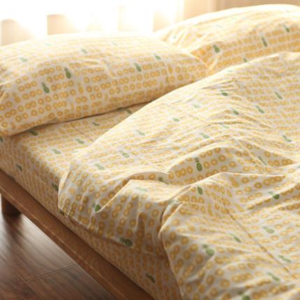 Castle Garden斜纹全棉印花多件套被套+床单+枕套组合 南岛菠萝