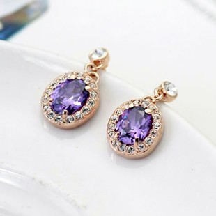 Counter genuine temperament flash diamond earring sparkling crystal earring