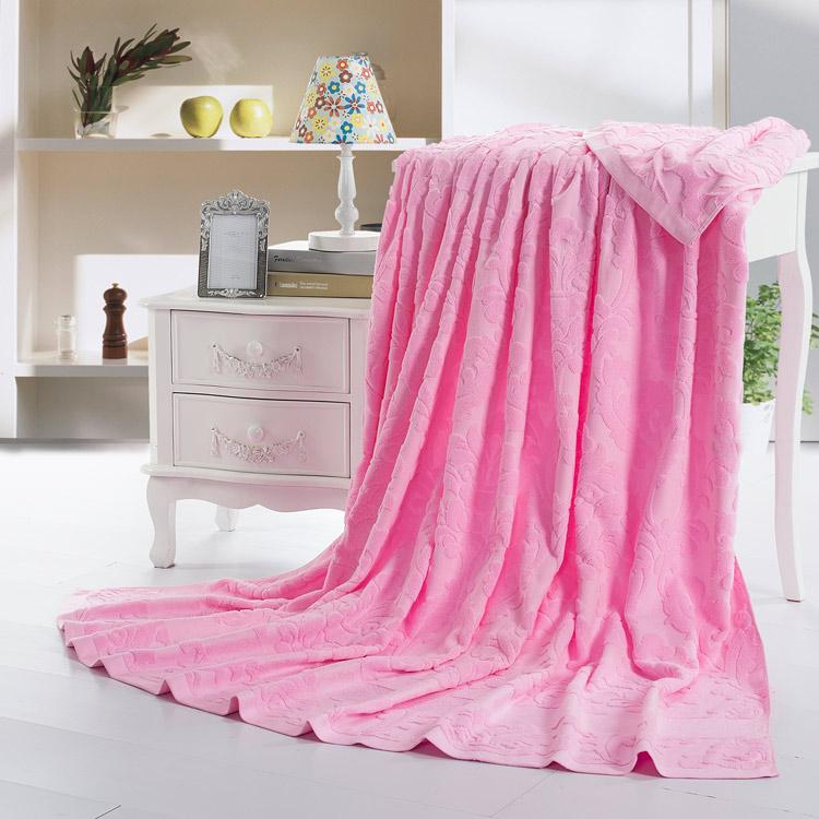 優宜 純色純棉毛巾被單人雙人加厚加大全棉毛巾毯子 素色線毯