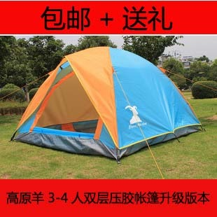 Anti rainstorm outdoor Tent camping Tent 3-4 person multiplayer wild double layer outdoor Tent