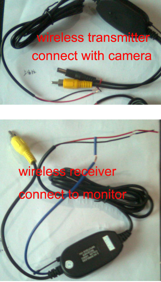 2.4 G беспроводной передатчик + приемник/автомобиля вспять камеры аксессуары / 100M транспорта