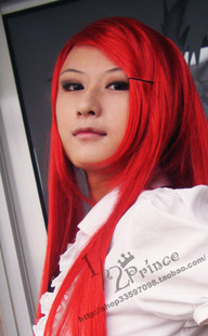 1 / 2Prince cos wigs 80CM straight red hair, for Shana, Erza