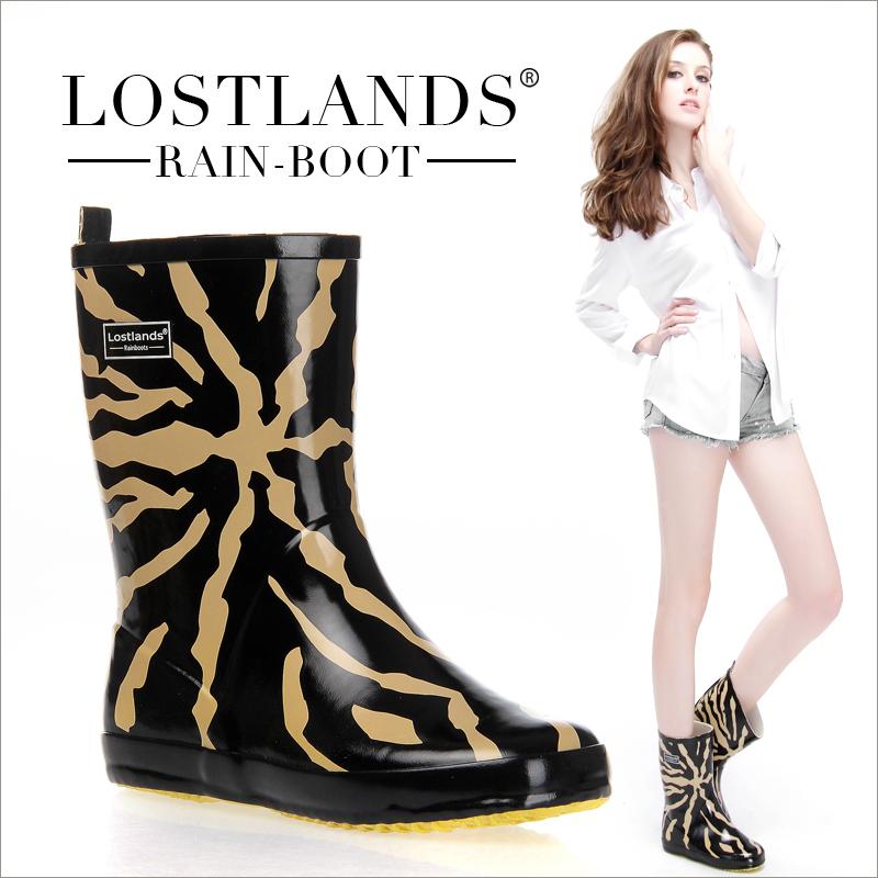 MS трубки резиновые дождь ботинок женщин дождя сапоги воды LOSTLANDS комфорта обувь стильный леопарда печати управления сапоги