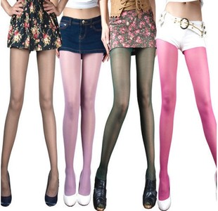 Specials langsha pantyhose stockings plus crotch core coffee color purple and green color over 10 genuine counter