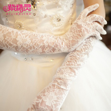 Purple fairy bride Gloves Wedding Accessories have finger lace wedding gown Gloves Wedding Dress Accessories photo studio gloves