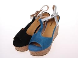 2014夏季新款伊伴女鞋厚底真皮凉鞋B4309221商场同款