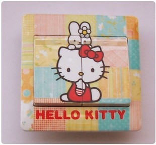 Hello kitty painting subsection Stickers Cartoon DIY switch stickers cute kt hot foil Value