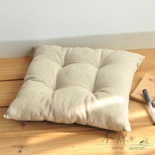 Primitive plain linen cushion pad windows and pad sill cushion chair cushion sofa cushion cushion customized