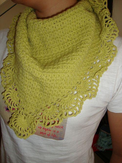 [life flower hand knitting] Crocheted triangle scarf hook flower shawl rabbit hair scarf