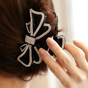 Ya na bows gracefully caught between Korea grab exquisite rhinestone hair clip ponytail holder luxury to grab zjz02