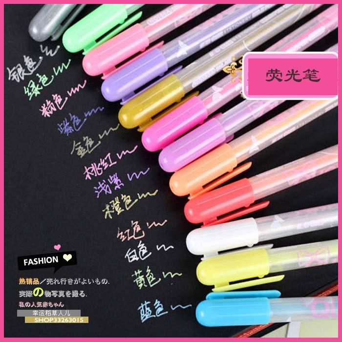 满包邮 韩国文具 果冻色荧光笔 彩色笔 记号笔 水彩笔 贺卡伴侣