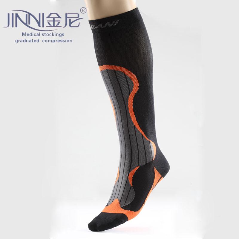 金尼台湾金尼运动压缩袜绑腿球类自行车跑步马拉松铁人三项压力袜