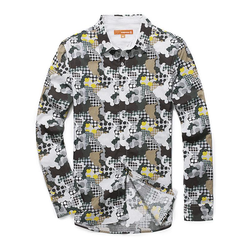 Ма Kechun Упакованные аутентичные открытый камуфляж набор тонкий хлопок влагу дышащий рубашка мужская с длинным рукавом рубашки