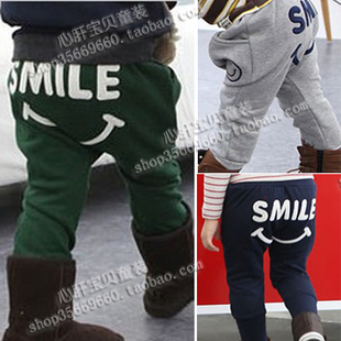 2014 winter new children s baby pants boys trousers pants plus thick velvet trousers clip pants Y KZ05