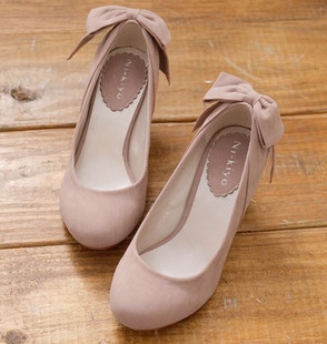 Nude color round Department of Forestry retro plain wedding shoes bridesmaid shoes Sen female wild European single shoes heels