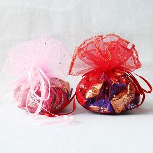 Конфеты сумки с песком размер диска No. конфеты сумки свадьба поставок красный розовый мешок