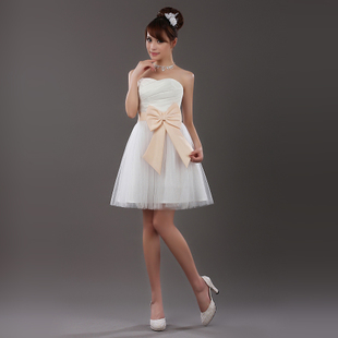 Really the only new dress clothes show hosted bridesmaid dress short skirt dress Korean dress