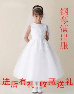 2014 European and American dress girls princess dress high end wedding dress flower children children piano costumes