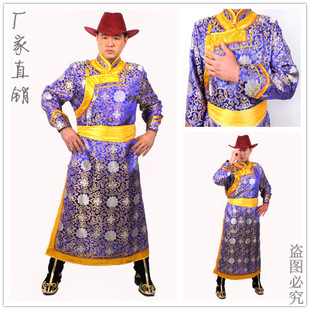 Sunny Court Mongolia grassland characteristics robe men s costumes Men s Clothing Mongolia